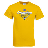 Gold T Shirt-Baseball SoCon Champions 2017 - Banner w/ Plate