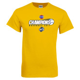 Gold T Shirt-Baseball SoCon Champions 2017 - Ball in Motion