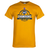Gold T Shirt-2017 SoCon Regular Season Basketball Champions - Banner