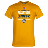 Gold T Shirt-2017 SoCon Regular Season Basketball Champions - Stacked