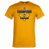 Gold T Shirt-2017 SoCon Regular Season Softball Champions - Diamond