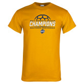 Gold T Shirt-2017 Womens Soccer Champions