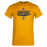 Gold T Shirt-2018 Mens Basketball Champions - Brush