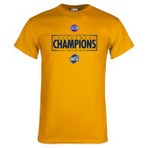 Gold T Shirt-2018 Mens Basketball Champions - Box