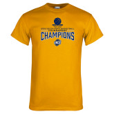 Gold T Shirt-2018 Mens Basketball Champions - Net w/ Basketball