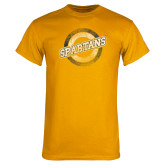 Gold T Shirt-Spartans Circle
