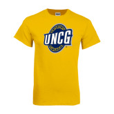 Gold T Shirt-UNCG Shield