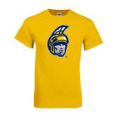 Gold T Shirt-Spartan Head