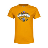 Youth Gold T Shirt-2017 SoCon Regular Season Basketball Champions - Arched