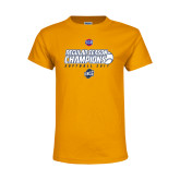 Youth Gold T Shirt-2017 SoCon Regular Season Softball Champions - Ball