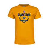 Youth Gold T Shirt-2017 SoCon Regular Season Softball Champions - Diamond