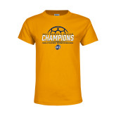 Youth Gold T Shirt-2017 Womens Soccer Champions
