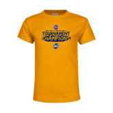 Youth Gold T Shirt-2018 Mens Basketball Champions - Brush