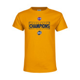 Youth Gold T Shirt-2018 Mens Basketball Champions - Box