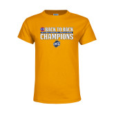 Youth Gold T Shirt-2018 Back to Back Regular Season Champions