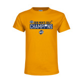 Youth Gold T Shirt-2018 Mens Golf Champions - Box