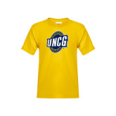 Youth Gold T Shirt-UNCG Shield