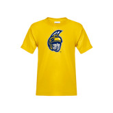 Youth Gold T Shirt-Spartan Head
