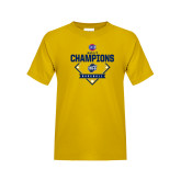 Youth Gold T Shirt-Baseball SoCon Champions 2017 - Diamond