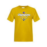 Youth Gold T Shirt-Baseball SoCon Champions 2017 - Banner w/ Plate