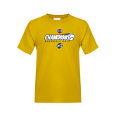 Youth Gold T Shirt-Baseball SoCon Champions 2017 - Ball in Motion