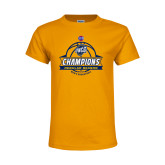 Youth Gold T Shirt-2017 SoCon Regular Season Basketball Champions - Banner