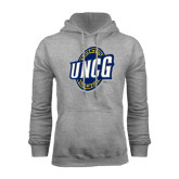 Grey Fleece Hoodie-UNCG Shield