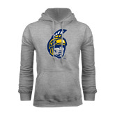 Grey Fleece Hoodie-Spartan Head
