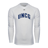 Under Armour White Long Sleeve Tech Tee-Arched UNCG