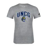Adidas Sport Grey Logo T Shirt-Arched UNCG w/Spartan