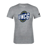 Adidas Sport Grey Logo T Shirt-UNCG Shield
