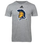 Adidas Sport Grey Logo T Shirt-Spartan Logo