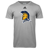 Adidas Climalite Sport Grey Ultimate Performance Tee-Spartan Logo