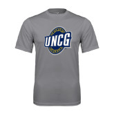 Performance Grey Concrete Tee-UNCG Shield