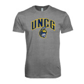 Next Level Premium Heather Tri Blend Crew-Arched UNCG w/Spartan