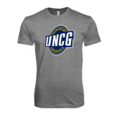 Next Level Premium Heather Tri Blend Crew-UNCG Shield