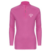 Ladies Syntrel Interlock Raspberry 1/4 Zip-Arched UNCG w/Spartan