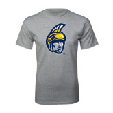 Grey T Shirt-Spartan Head