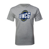 Grey T Shirt-UNCG Shield Distressed