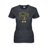 Ladies Dark Heather T Shirt-Mom