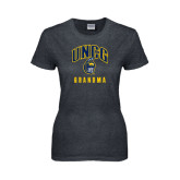 Ladies Dark Heather T Shirt-Grandma