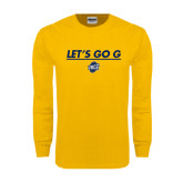 Gold Long Sleeve T Shirt-Lets Go G