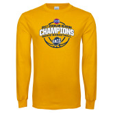 Gold Long Sleeve T Shirt-2017 SoCon Regular Season Basketball Champions - Arched