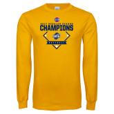 Gold Long Sleeve T Shirt-2017 SoCon Regular Season Softball Champions - Diamond