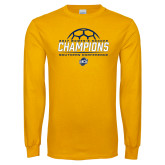 Gold Long Sleeve T Shirt-2017 Womens Soccer Champions