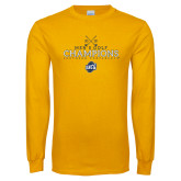 Gold Long Sleeve T Shirt-2018 Mens Golf Champions