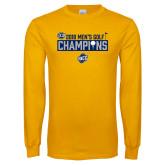 Gold Long Sleeve T Shirt-2018 Mens Golf Champions - Box