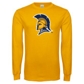 Gold Long Sleeve T Shirt-Spartan Logo