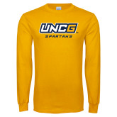 Gold Long Sleeve T Shirt-UNCG Spartans