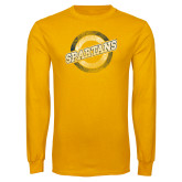 Gold Long Sleeve T Shirt-Spartans Circle
